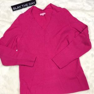 Lilly Pulitzer 100% Cashmere Sweater XL